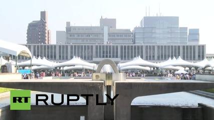 Япония: Стотици отдават почит в Хирошима на 70-тата годишнина от бомбардирането
