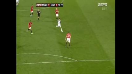 Man Utd 1 - 2 Sunderland - Jones