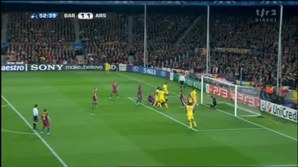 08.03.11 Барселона 1 - 1 Арсенал - Авто гол