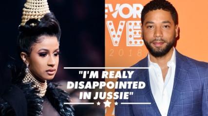 Cardi B says Jussie Smollett 'f***ed up Black History Month'