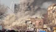 30 пожарникари загинаха при рухване на висока сграда (ВИДЕО)