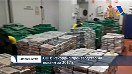 ООН: Рекордно производство на кокаин за 2017 г.