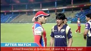Dr.vijay Mallya Sidhartha Mallya and Shahrukh Khan play cricket