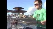 Страхотно изпълнение на барабани,  истинско Про