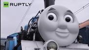 Японските деца обожават локомотива Томас