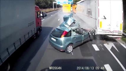 Ужасна катастрофа на магистралата!