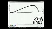Как Да Нарисуваме Спортна Кола С Ms Paint 2