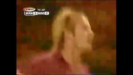 Последния гол на Бекам с фланелката на Ман Ю