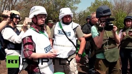 Ukraine: OSCE investigate alleged shelling in Sakhanka