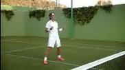 Вижте на какво се казва умения! Кристияно Роналдо срещу Рафаел Надал !!!