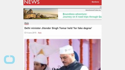 Delhi 'fake Degree' Minister Held
