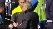 Емоцията на Жозе Моуриньо след гола на Фабрегас срещу КПР