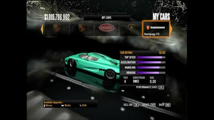 My cars in Nfs Shift Part 2