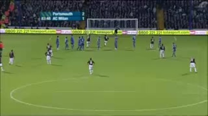 Ronaldinho Free Kick Goal - Portsmouth - Ac Milan Hq