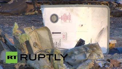 Egypt: Russian crash investigators arrive at flight crash site in Sinai