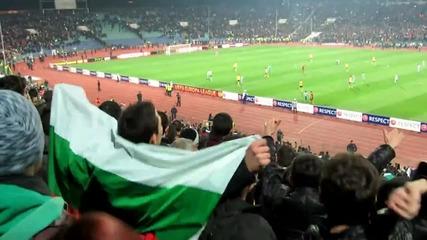 Емоциите на публиката на мача между Лудогорец и Лацио