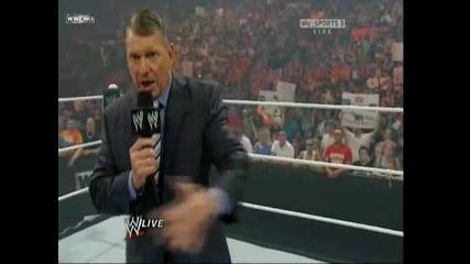 Vince Mcmahon уволнява Bret Hart [ Raw 21.06.10]