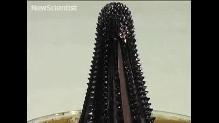 Fluid creates magnetic sculptures