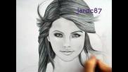 Бърза рисунка на Selena Gomez