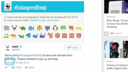 Emojis for Endangered Animals Can Help Conservation Efforts