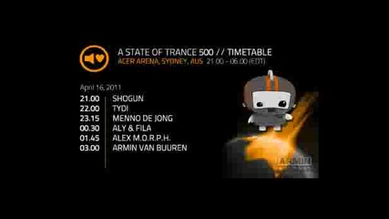 A State of Trance 500 Day 5 - tydi Part 1