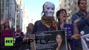 Spain: FEMEN, Podemos, and thousands more rally against 'feminicide' in Madrid