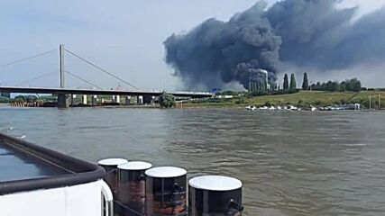 Germany: Footage from Rhine shows giant smoke cloud filling sky after Leverkusen explosion