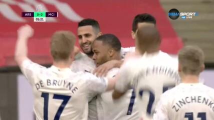 Стърлинг разпечата вратата на Арсенал след само 76 секунди
