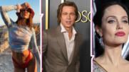 Анджелина е бясна? Брад заведе новата си в имението, където се венчаха с Джоли