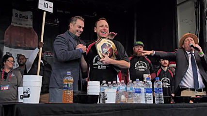 Prawn winner! Undefeated shrimp cocktail eating champion retains title