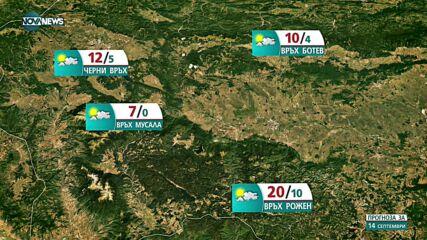 Прогноза за времето на NOVA NEWS (14.09.2021 – 10:00)