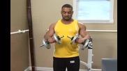 Бодибилдинг упражнения - Двоино сгъване за бицепс с дъмбели Vbox7