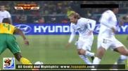16.06.2010 Юар - Уругвай 0:1 Гол на Форлан Мондиал 2010 Юар