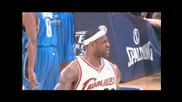 Lebron Blocks Dwight Howard and 3 Pointer vs.magic