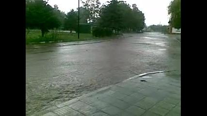 Проливен дъжд в с. Салманово
