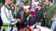 Ukraine: 'Ghost' battalion head Alexei Mozgovoy's funeral attracts thousands