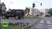 Военни машини охраняват правителството в Македония