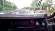 Пътуване в кабината на руски дизелов локомотив серия 07 в Германия