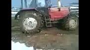 Трактор Беларус Буксува - Много Кал