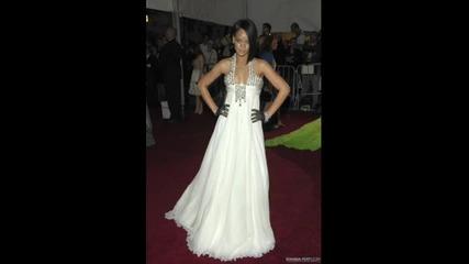 Rihanna В Бели Рокли