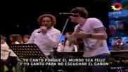 Превод David Bisbal Luis Fonsi y Axel Que Canten Los Ninos 07.08.2011