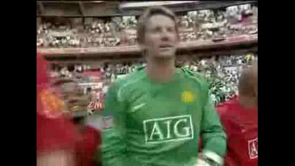 Van Der Sar 3 Saves In A Row - Manchester United Vs Chelsea
