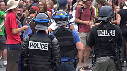 France: Anti-police protest held in Hendaye as G7 continues