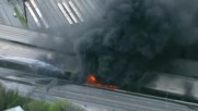 Мост на магистрала в САЩ рухна заради пожар