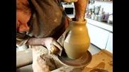 точене на ваза от 2.5 кг. глина