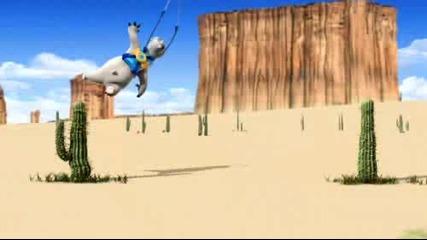 смях  анимация-бялата мечка в пустиня