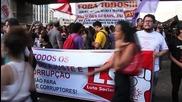 Brazil: Anti-corruption protesters rally in Sao Paulo