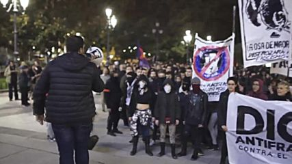 Spain: Antifa march on Madrid ahead of anniversary of Franco's death