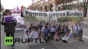Germany: Pro-Kurdish activists march through Frankfurt in solidarity with Ankara victims