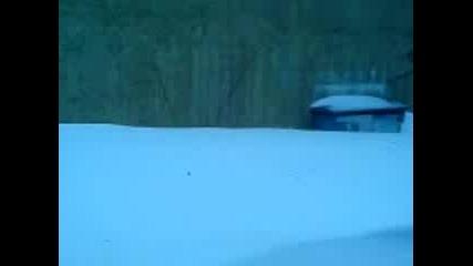 плиосване в снежна пряспа